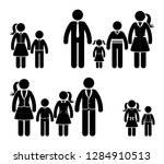 stick figure family in nice... | Shutterstock .eps vector #1284910513