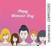 happy woman's day avatar in... | Shutterstock .eps vector #1284912283