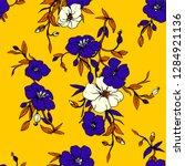 yellow tropical vector floral... | Shutterstock .eps vector #1284921136