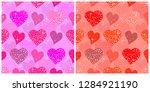 valentines day vector seamless... | Shutterstock .eps vector #1284921190