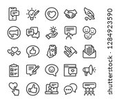 feedback icons set. comments... | Shutterstock .eps vector #1284923590