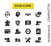 service icons set with help...