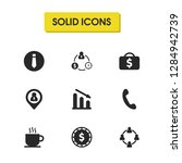 work icons set with geolocation ...