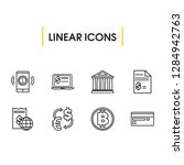 finance icons set with fintech  ... | Shutterstock . vector #1284942763