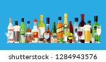 alcohol drinks collection.... | Shutterstock .eps vector #1284943576