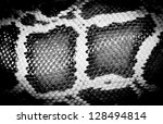 boa snake reticulated python pattern black and white - stock photo