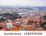 gothic prague from the old... | Shutterstock . vector #1284949300