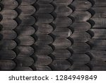 old wooden roof texture as nice ... | Shutterstock . vector #1284949849