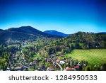 ostravice village in the beskid ... | Shutterstock . vector #1284950533
