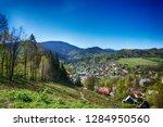 ostravice village in the beskid ... | Shutterstock . vector #1284950560