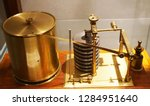 very old barometer machine as... | Shutterstock . vector #1284951640