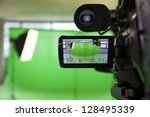 lcd display screen on a high... | Shutterstock . vector #128495339