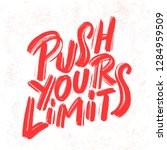 push your limits. motivation... | Shutterstock .eps vector #1284959509