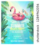 concept in flat style. summer... | Shutterstock .eps vector #1284962056