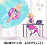 concept in flat style with... | Shutterstock .eps vector #1284962086