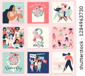 international women's day.... | Shutterstock .eps vector #1284963730