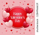 valentine's day background with ... | Shutterstock .eps vector #1284966619