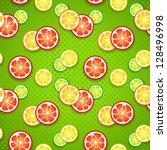 slices of funny fresh citrus... | Shutterstock .eps vector #128496998