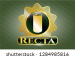golden emblem or badge with... | Shutterstock .eps vector #1284985816