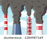 smoking factory pipes against... | Shutterstock .eps vector #1284987169