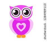 Owl. A Heart. Cute Owl. The...