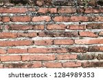 the texture of the old brick ... | Shutterstock . vector #1284989353