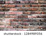 the texture of the old brick ... | Shutterstock . vector #1284989356