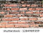 the texture of the old brick ... | Shutterstock . vector #1284989359