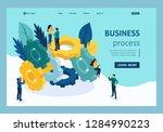 isometric teamwork ... | Shutterstock .eps vector #1284990223