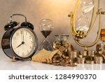 sand running through the shape...   Shutterstock . vector #1284990370