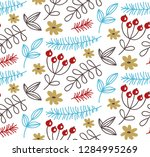 cute doodle floral natural...   Shutterstock .eps vector #1284995269