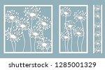 set template for laser cutting...   Shutterstock .eps vector #1285001329