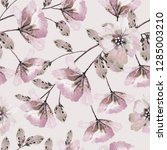 seamless pattern with flowers... | Shutterstock . vector #1285003210