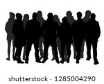 group of people. crowd of... | Shutterstock .eps vector #1285004290
