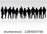 group of people. crowd of... | Shutterstock .eps vector #1285005760