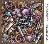 hair salon hand drawn vector... | Shutterstock .eps vector #1285010719