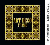 art deco vintage border frame.... | Shutterstock .eps vector #1285014199
