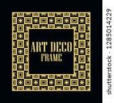 art deco vintage border frame.... | Shutterstock .eps vector #1285014229