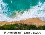 sea wave beach aerial view... | Shutterstock . vector #1285016209