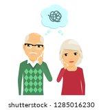 older people. the elderly man... | Shutterstock .eps vector #1285016230