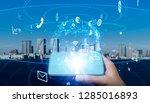 mobile communication network... | Shutterstock . vector #1285016893