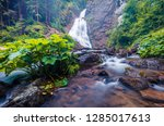 spectacular morning view of... | Shutterstock . vector #1285017613