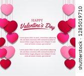 valentine's day banner...   Shutterstock .eps vector #1285019710