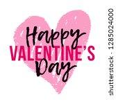 vector happy valentine's day... | Shutterstock .eps vector #1285024000