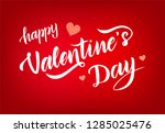 hand drawn happy valentines day ... | Shutterstock .eps vector #1285025476
