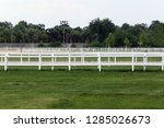 Stock photo empty racing track racecourse without horses and riders 1285026673