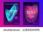 dj flyer. trendy show... | Shutterstock .eps vector #1285034590