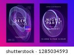 music flyer. dynamic gradient... | Shutterstock .eps vector #1285034593