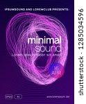 neon flyer. dynamic gradient... | Shutterstock .eps vector #1285034596