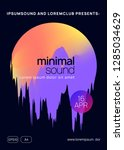 music poster. fluid holographic ... | Shutterstock .eps vector #1285034629